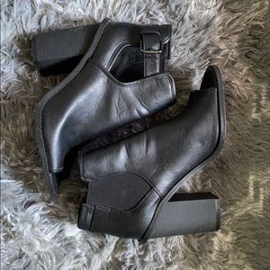 Forever21 open-toed booties (size7)